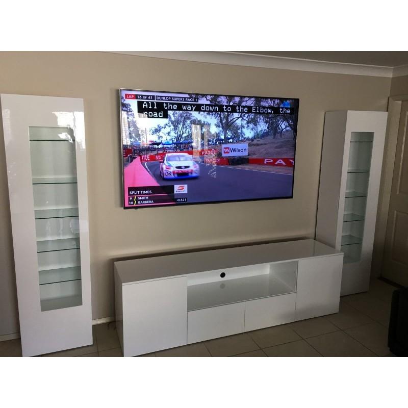 """Cubic"" Custom Made High Gloss Polyurethane Wall Unit TV Unit Display Cabinet"