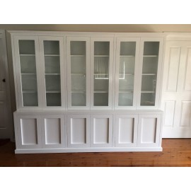 """Kent 2.0"" Integrated Wall Unit Bookshelf Cupboard"